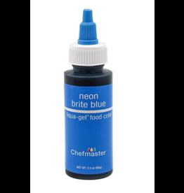CHEFMASTER CHEFMASTER LIQUA GEL NEON BRITE BLUE 2.3 OZ (5701)