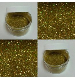 HOLOGRAM GOLD GLITTER NON TOXIC, FOR DECORATIVE PURPOSES ONLY 5GR