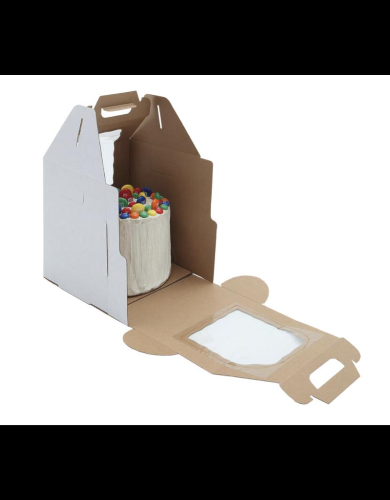 White Plain Tall Cake Box Handle 12x12x14 (PT121214W)
