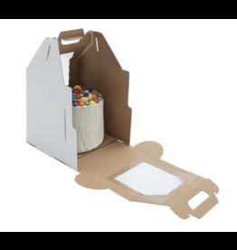 White Plain Tall Cake Box Handle 16x16x18 (PT161618W)
