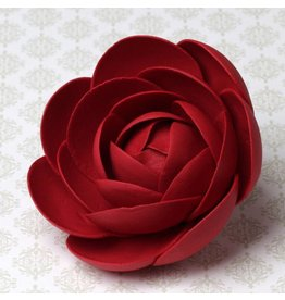 LARGE GLAM ROSES - RED SUGAR FLOWER