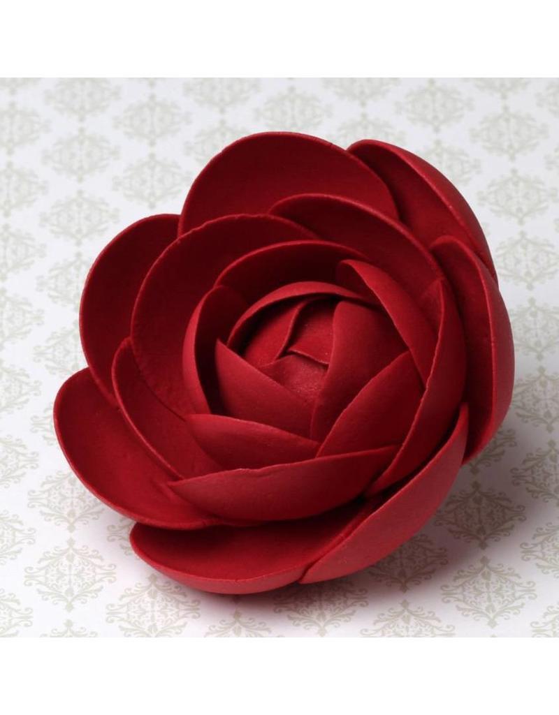 LARGE GLAM ROSES - RED SUGAR FLOWER