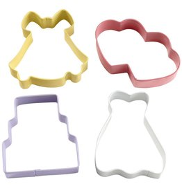 WILTON WEDDING 4PC COLORED THEME 2308-1071
