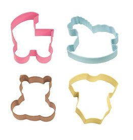 WILTON BABY 4PC COLORED THEME 2308-1067