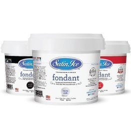 SATIN ICE WHITE FONDANT 2LBS SATIN ICE S10000