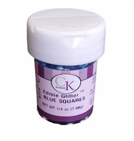 CK PRODUCTS BLUE SQUARE EDIBLE GLITTER 1/4 OZ 78-631B