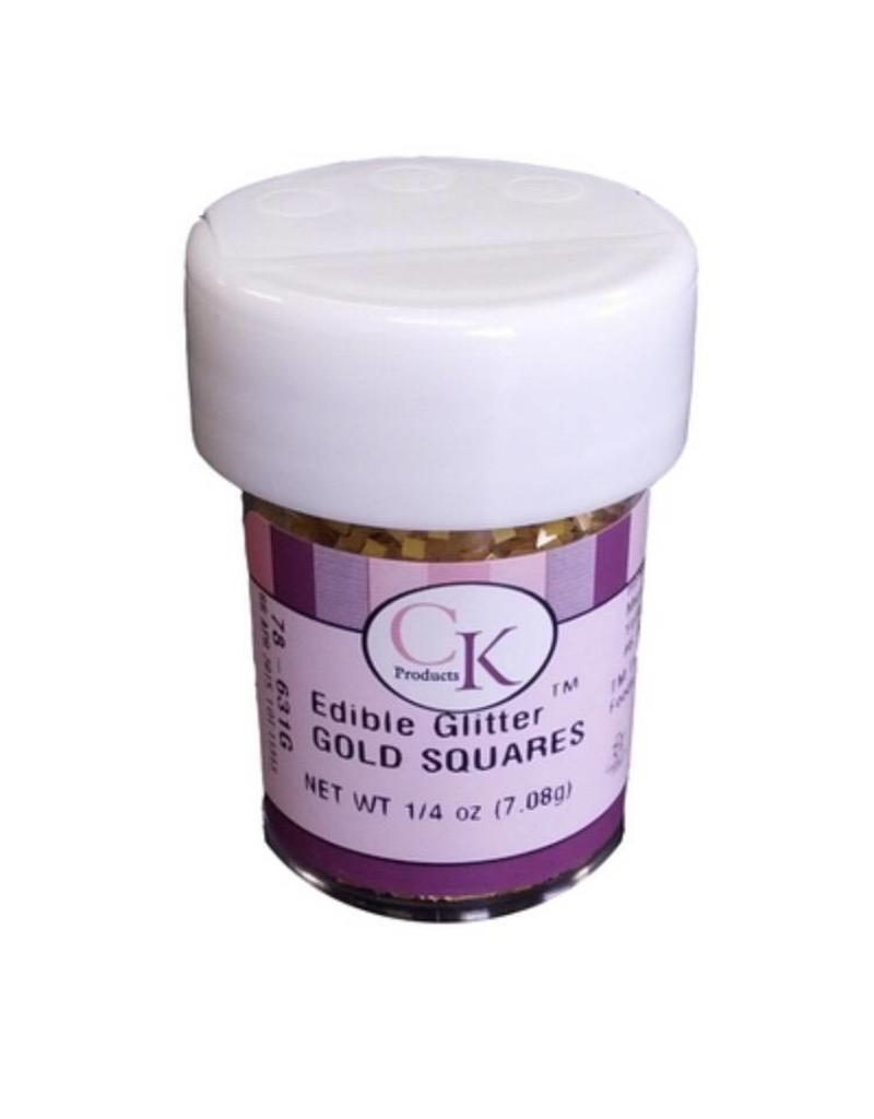 CK PRODUCTS GOLD SQUARE EDIBLE GLITTER 1/4 OZ 78-631G