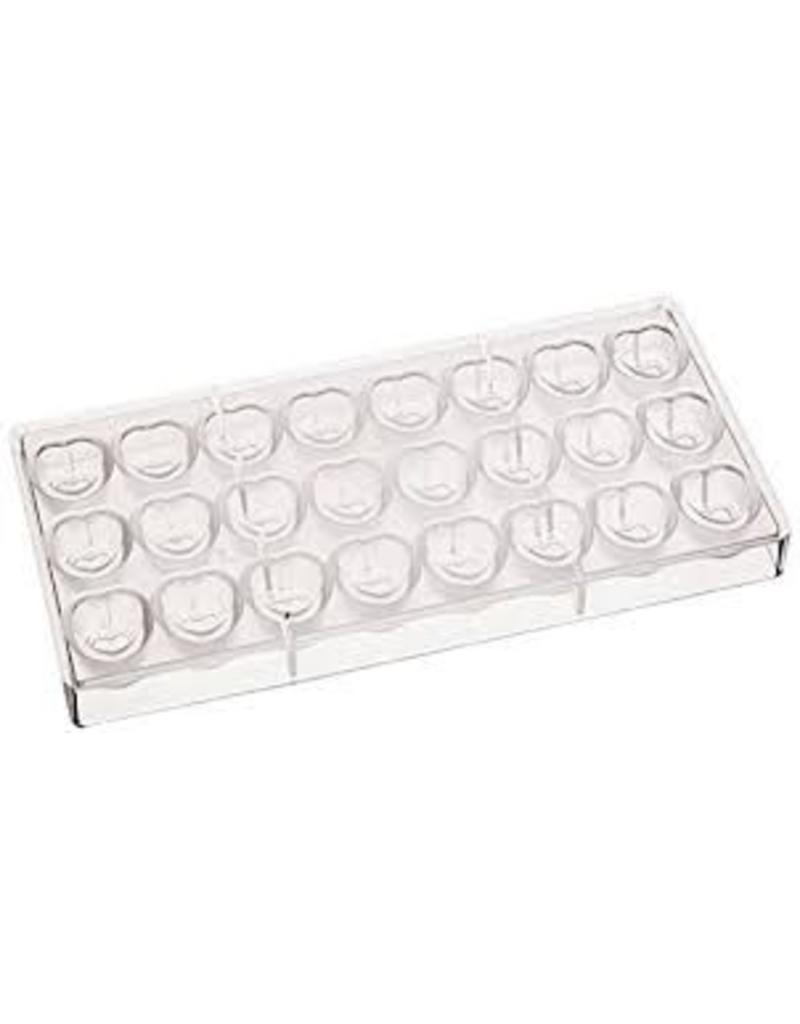 FAT DADDIO'S POLYCARBONATE CHOCOLATE  MOLD EMBOSSED HEART PCM-1012