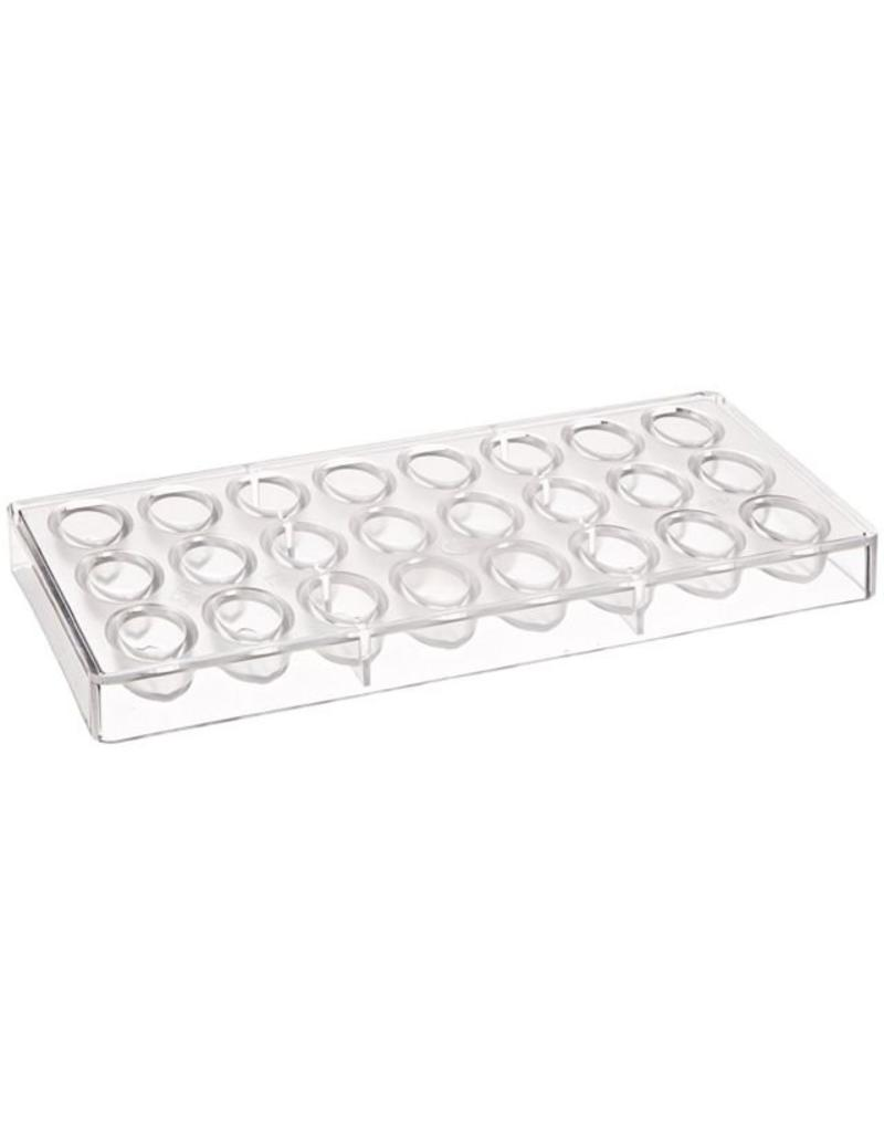 FAT DADDIO'S POLYCARBONATE CHOCOLATE  MOLD UNDULATING OVAL PCM-1064
