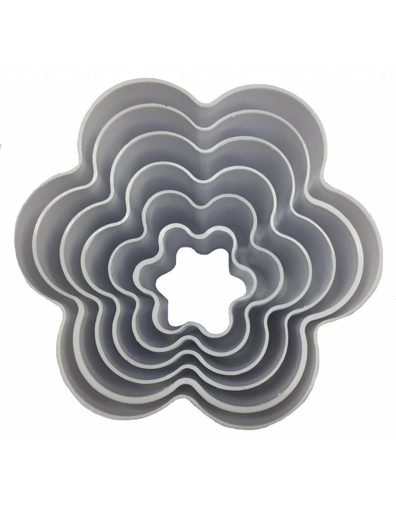 FLOWER SHAPE COOKIE CUTTER 6 PCS TS-F929