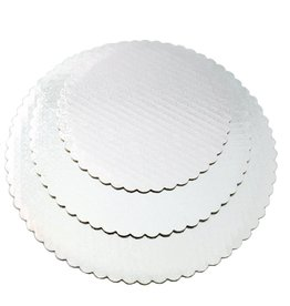 "White Scalloped Cake Circle 10"" (SCA10W)"