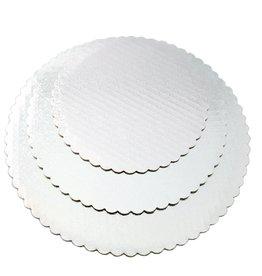 """White Scalloped Cake Circle 8"""" (SCA8W)"""