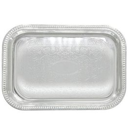 "WINCO CHROME SERVING TRAY RECTANGULAR 20"" X 14"" CMT-2014"