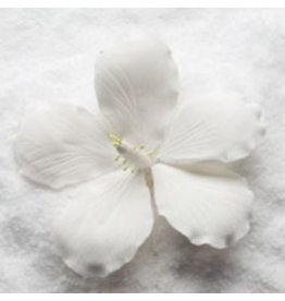 SUGAR FLOWER MEDIUM HIBISCUS WHITE 3.5""