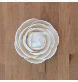 LARGE GLAM ROSE WHITE SUGAR FLOWER