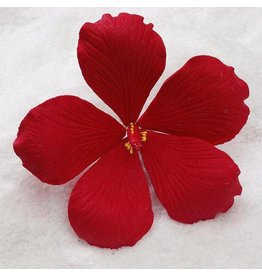 SUGAR FLOWER MEDIUM HIBISCUS RED 3.5""