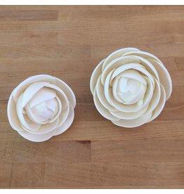SUGAR FLOWER MEDIUM GLAM ROSE WHITE