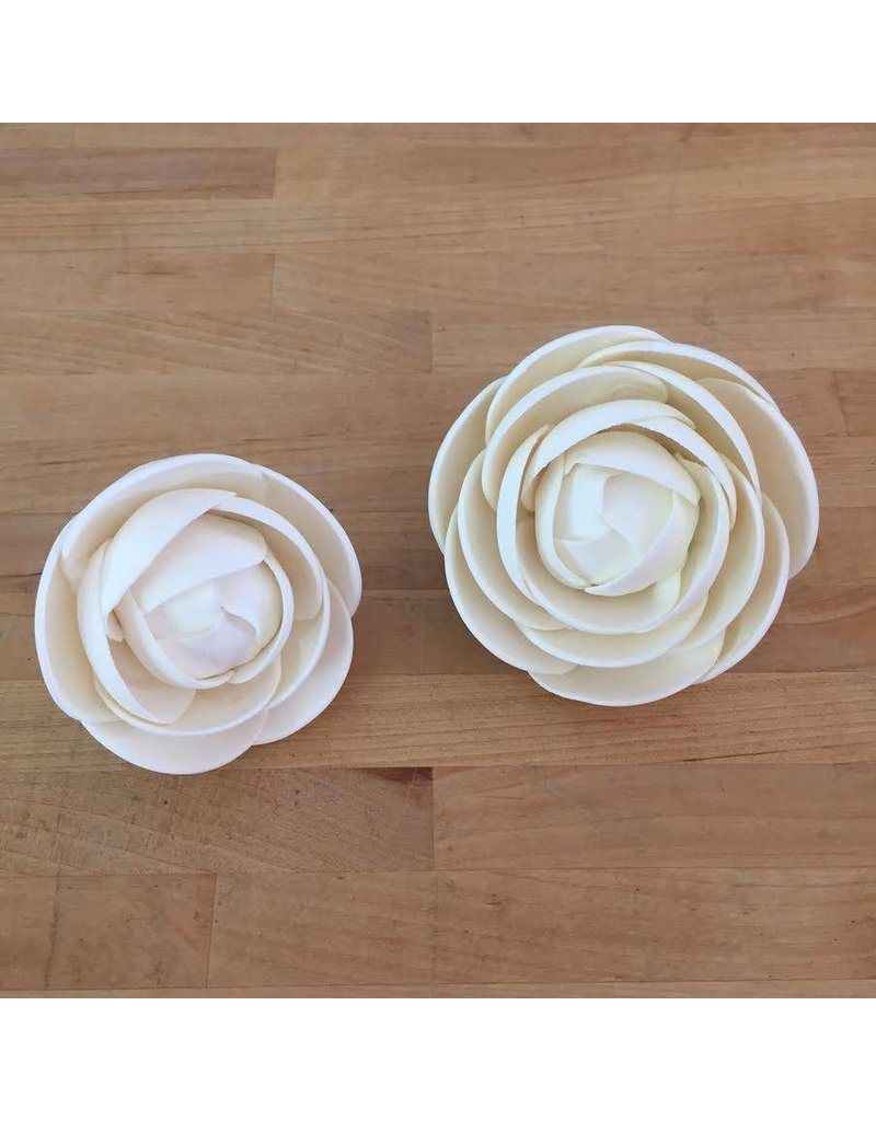 SUGAR FLOWER MEDIUM GLAM ROSE WHITE