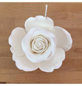 ROSE GOLD QUEEN ROSE WHITE SUGAR FLOWER