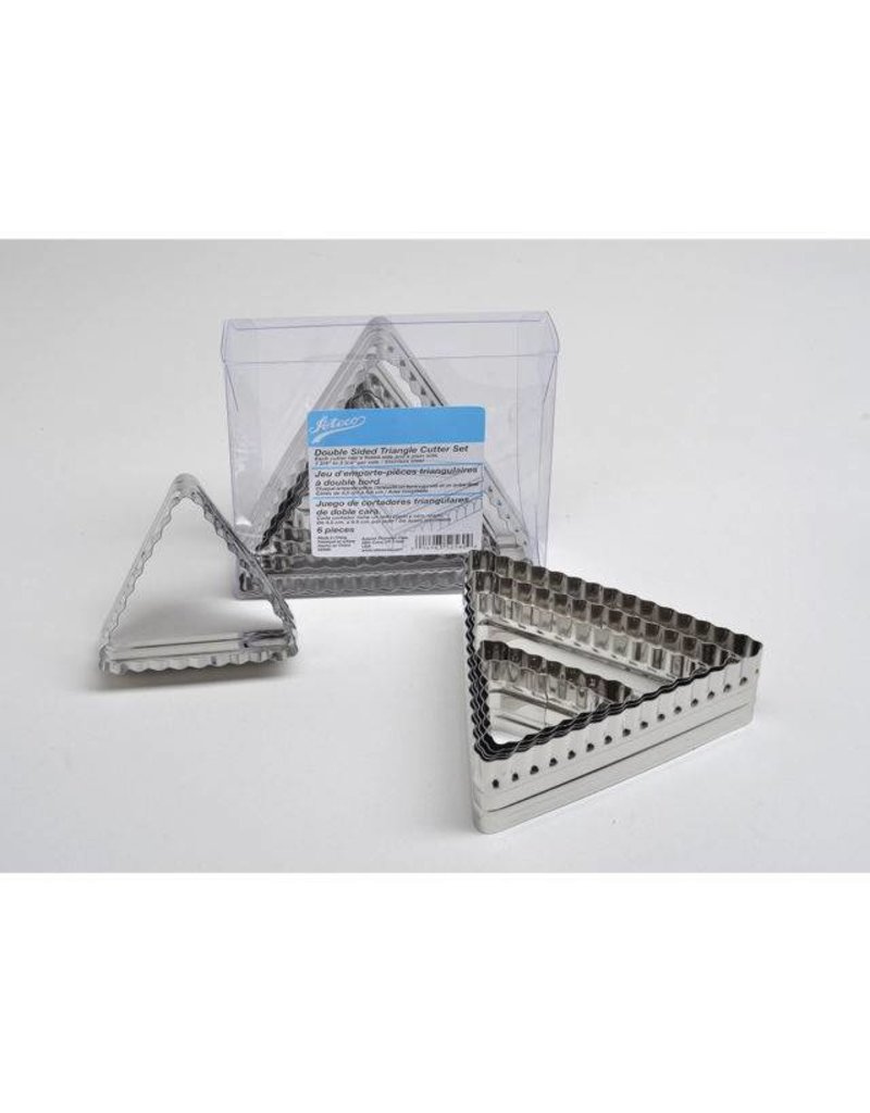 ATECO 6PC 2 SIDED TRIANGLE CUTTER SET 52560