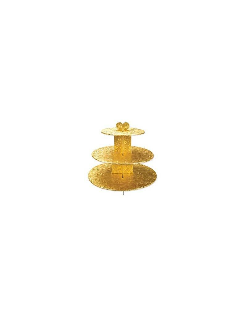 GOLD FOIL 3-TIER CUPCAKE STAND 955988