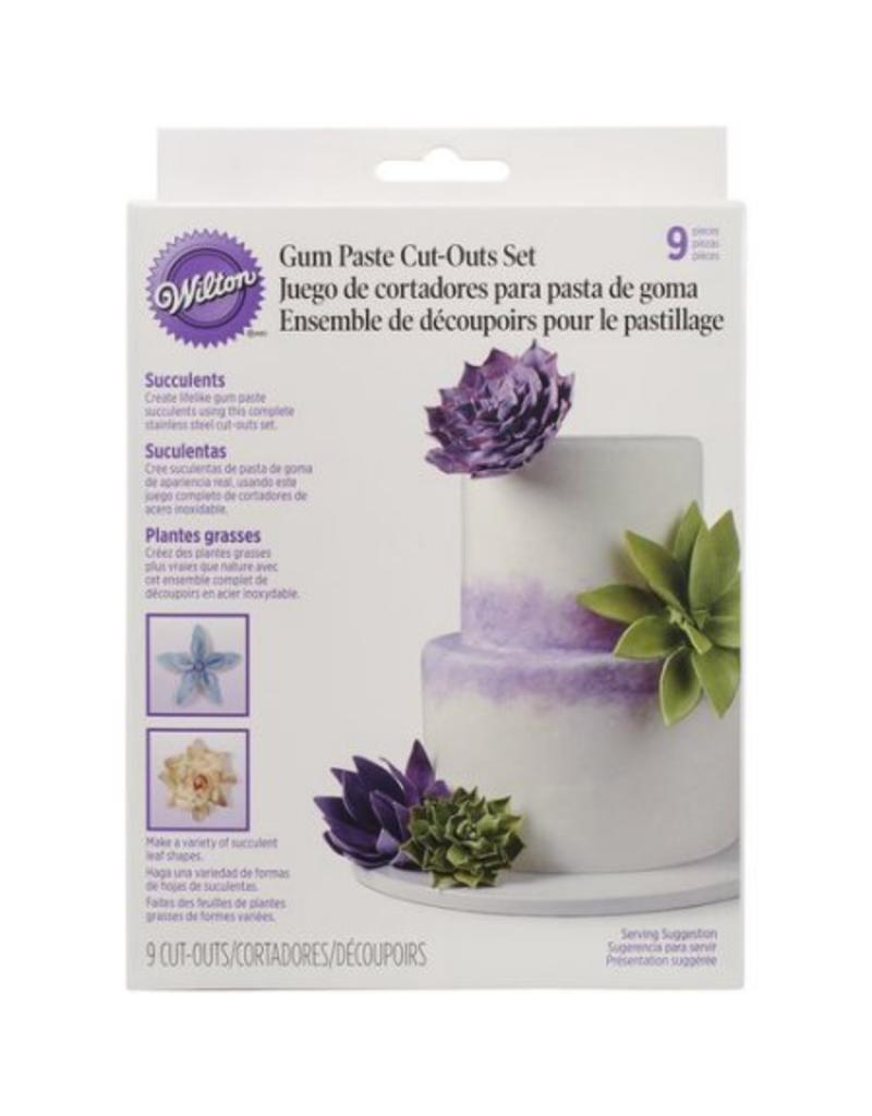 WILTON GUM PASTE CUT OUTS SUCCUL 417-2577