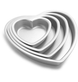 "FAT DADDIO'S HEART CAKE PAN SOLID BOTTOM 8"" x 3"" PHT-83"