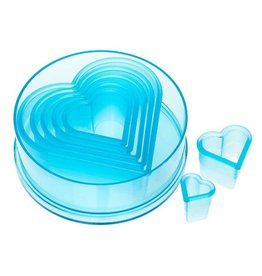 ATECO PLAIN HEART CUTTER SET 7 PC 5751
