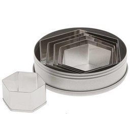 ATECO PLAIN HEXAGON SET 6PC 5251