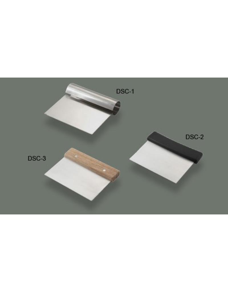 WINCO DOUGH SCRAPPER W/ PLASTIC HANDLE DSC-2