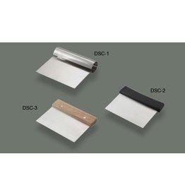 "WINCO DOUGH SCRAPER S/S 5 1/4"" x 4 1/4"" DSC-1"