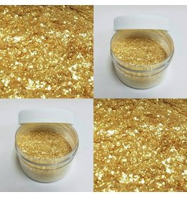 CLEARVIEW MOLDS GOLD ANGEL FLAKES NON TOXIC, FOR DECORATIVE PURPOSES ONLY 28GRS