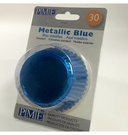 PME METALLIC BLUE BAKING CUPS STD30  BC754