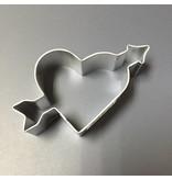 """4"""" HEART W/ ARROW METAL COOKIE CUTTER"""