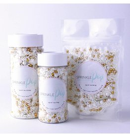 SPRINKLE POP WEDDING WHITE SPRINKLE MIX 8 OZ