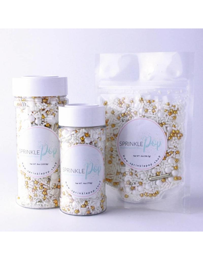 WEDDING WHITE SPRINKLE MIX 8 OZ