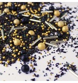 SPRINKLE POP BLACK GOLD SPRINKLE MIX 4 OZ