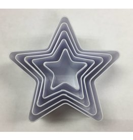 STAR SHAPE COOKIE CUTTERS 5 PCS TS-F930