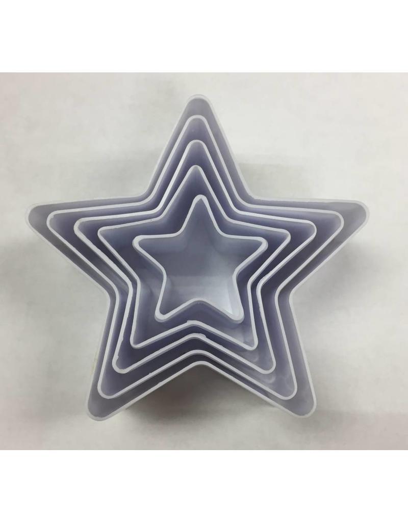 STAR SHAPE COOKIE CUTTERS 5 PCS TS-F930