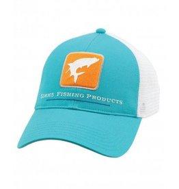 Simms Simm Tarpon Trucker Hat- Cabana Blue