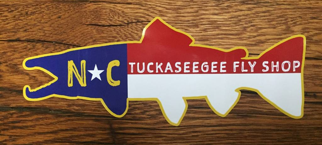 NC  State Flag Trout Sticker