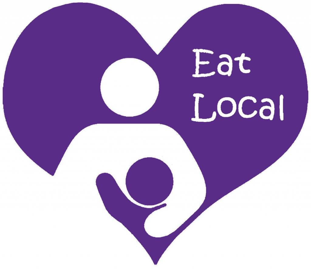 Nappy Shoppe Sticker - Eat Local Breastfeeding in Heart