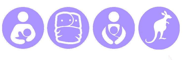 Nappy Shoppe Sticker - Breastfeed, Cloth Diaper, Babywear, Kangaroo