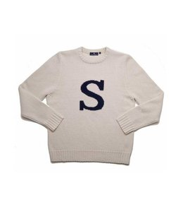 """Smart Turnout Ivory Lambswool Sweater with Ivory """"S"""""""