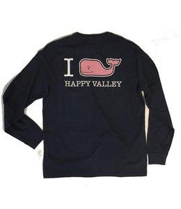 "Vineyard Vines ""I WHALEY Love Happy Valley"" L/S Tee"
