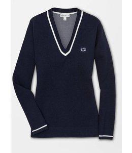 Peter Millar WOMENS PSU V-Neck Cotton Blend Sweater