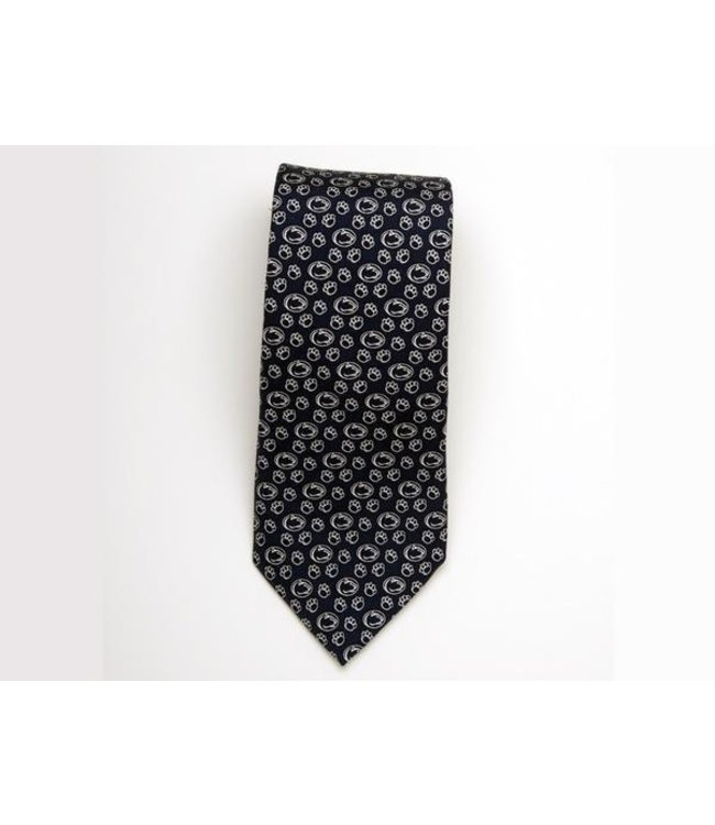 Vineyard Vines Lion and Pawprint Suit Tie, Navy