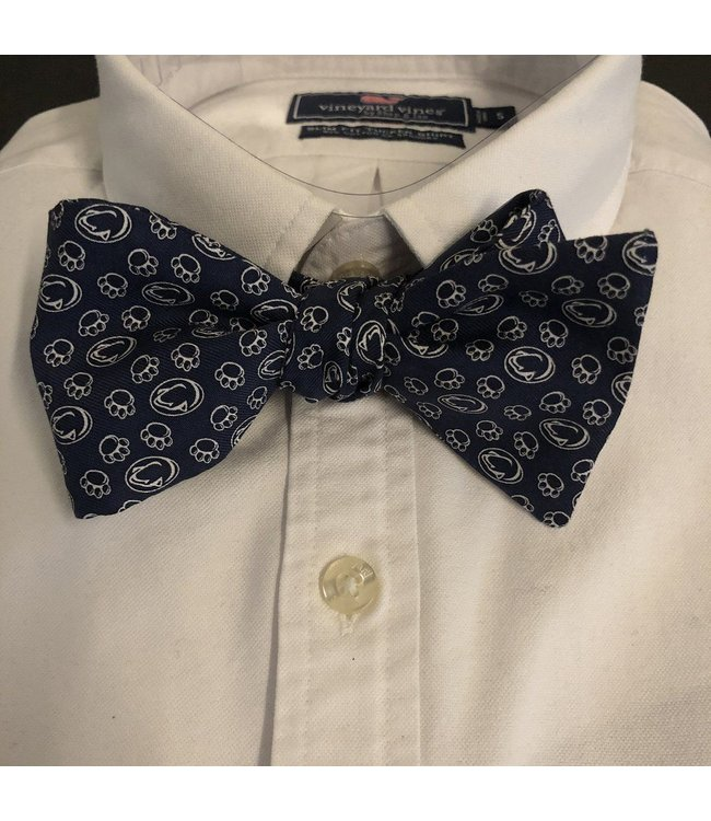 Vineyard Vines PSU Lion and Pawprint Bowtie, Navy