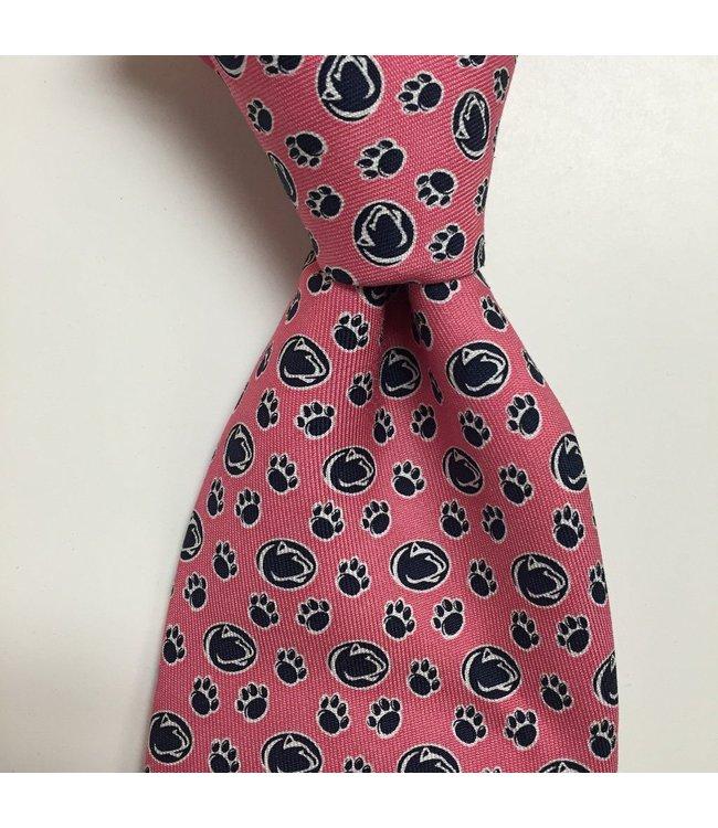 Vineyard Vines Lion and Pawprint Tie, Pink