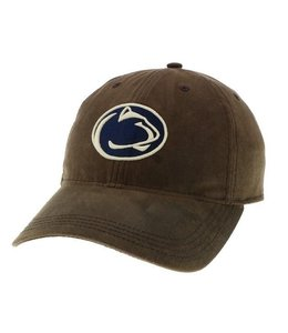 Legacy Athletic Waxed Cotton PSU Hat, Dark Brown